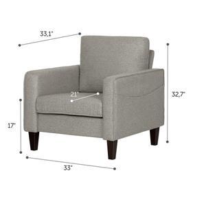 South Shore Furniture Live It 1 Seat Cozy Sofa