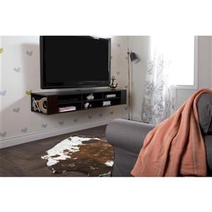 South Shore Furniture City Life 66-in Chocolate Wall-Mounted Media Console