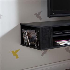 South Shore Furniture City Life 66-in Black Oak Wall-Mounted Media Console