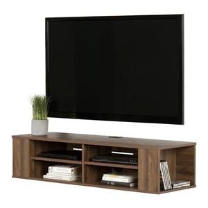 South Shore Furniture City Life 48-in Natural Walnut Wall-Mounted Media Console