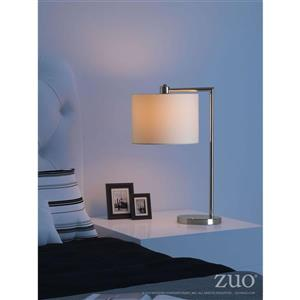 Zuo Modern Race Collection Table Lamp - 24.4-in x 16.5-in - Chrome
