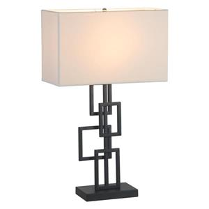 Zuo Modern Step Table Lamp - 26-in - Black and White