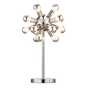 Zuo Modern Pulsar Table Lamp - 22.5-in - Chrome