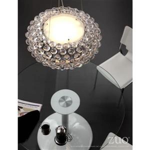 Zuo Modern Stellar Pendant Light - 1-Light - 125.5-in x 17.7-in - Clear Glass