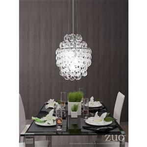Zuo Modern Cascade Chandelier - 136.9-in - Chrome and Clear Glass