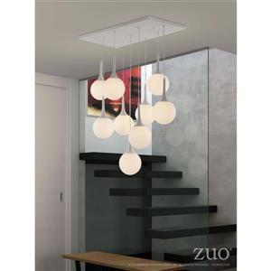 Zuo Modern Epsilon Pendant Light - 9-Light - 86.6-in - White