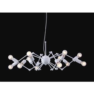 Zuo Modern Sleet Pendant Light - 12-Light - 133.7-in x 36.6-in - White
