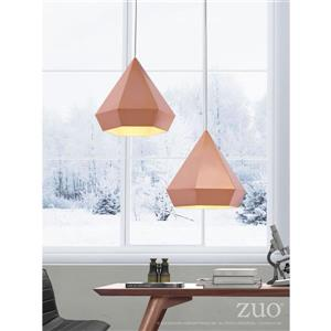 Zuo Modern Forecast Pendant Light - 13.8-in x 131-in - Rose Gold