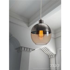 Zuo Modern Trente Pendant Light - 1-Light - 7.9-in x 130-in - Satin