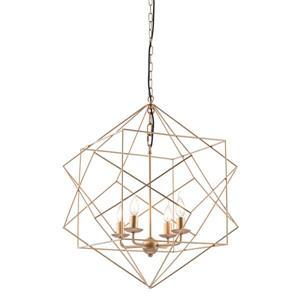 Zuo Modern Penta Pendant Light - 4-Light - 24.8-in x 72.8-in - Gold