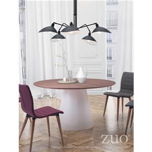 Zuo Modern Desden Pendant Light - 5-Light - 47.2-in x 43.3-in - Black