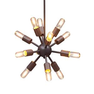 Zuo Modern Sapphire Pendant Light - 19.7-in x 61-in - Black and Gold