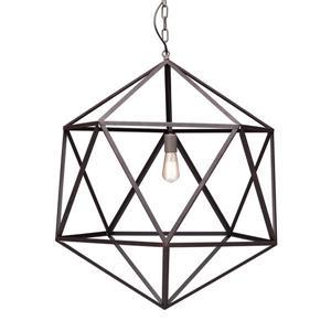 Zuo Modern Amethyst Pendant Light - 30.7-in x 74-in - Rusty Brown