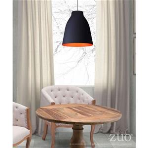 Zuo Modern Bronze Pendant Light - 15.8-in x 134.9-in - Matte Black