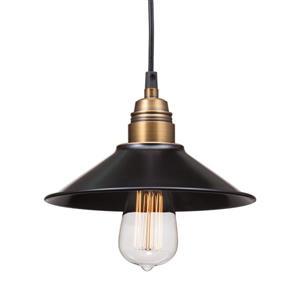 Zuo Modern Amaraillite Pendant Light - 8.9-in x 60-in - Black and Cooper