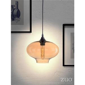 Zuo Modern Borax Pendant Light - 10-in x 60.8-in - Bronze