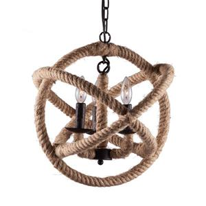 Zuo Modern Caledonite Pendant Light - 16.9-in x 47.2-in - Natural Rope