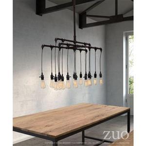 Zuo Modern Maldonite Pendant Light - 16-Light - 42-in x 63-in - Rusty Black