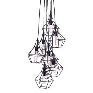 Zuo Modern Palmerston Pendant Light - 7-Light - 14-in x 62-in - Black