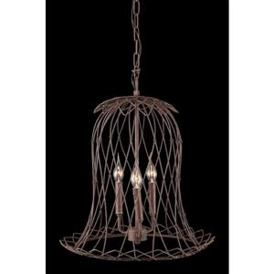 Zuo Modern Chert Pendant Light - 15.4-in x 142.8-in - Rusty Brown