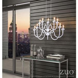 Zuo Modern Supercell Pendant Light - 32.7-in x 137.7-in - Silver