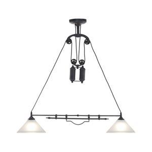 Zuo Modern Agate Pendant Light - 40.9-in x 63.9-in - Black