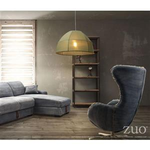 Zuo Modern Marble Pendant Light - 23.6-in x 131.8-in - Green