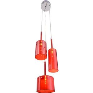 Zuo Modern Lightning Collection Pendant Light - 3-Light - 6.3-in x 59-in - Red