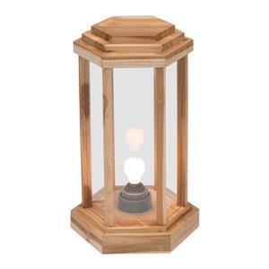 Zuo Modern Latter Outdoor Floor Lamp - 13.8-in x 22-in - Natural Wood