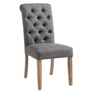 Linen Tufted Side Chair (Set of 2)