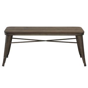 Worldwide Home Furnishings !nspire 43.25-in Grey Double Industrial Indoor Bench