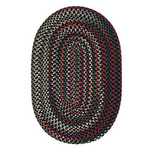 Colonial Mills Chestnut Knoll Black Satin 8-ft x 11-ft Oval Red Area Rug
