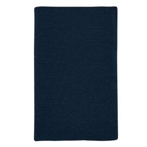 Colonial Mills Courtyard 4-ft Square India Ink Blue Area Rug