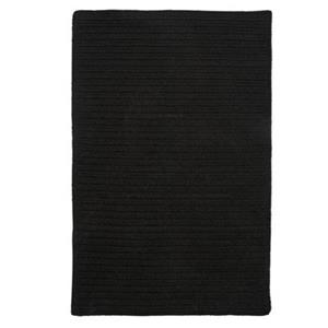 Colonial Mills Courtyard 7-ft x 9-ft Iron Black Area Rug