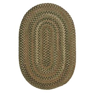 Colonial Mills Oak Harbour 8-ft Round Cabana Green Area Rug