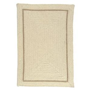 Colonial Mills Shear Natural Canvas 4-ft Square Off-White Area Rug