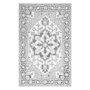 Aileen Floral Grey Area Rug