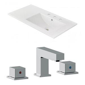 "American Imaginations Ceramic Top Set - 35.5"" x 18.25"" - Widespread - White"