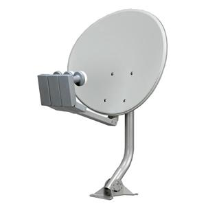 Digiwave Light Grey 24-in Elliptical Satellite Dish