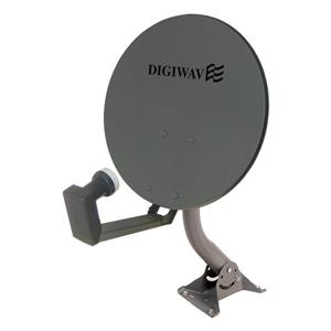 Digiwave Gray 18-in Offset Satellite Dish