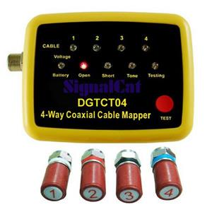 Digiwave Coaxial Cable Mapper - 4 Way - Yellow