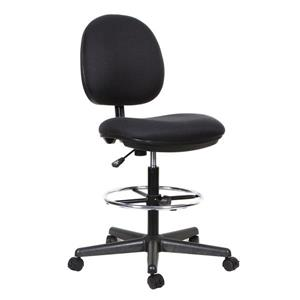 TygerClaw 21.26-in x 27.5-in Black Office Chair