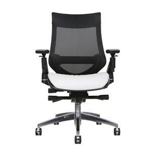 TygerClaw 20.9-in x 21-in White Faux Leather Office Chair