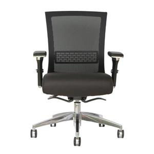 TygerClaw 19.9-in x 21.5-in Black Office Chair