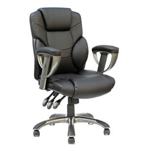 TygerClaw 21.26-in x 21-in Black Upholstered Office Chair
