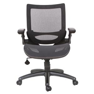 TygerClaw 21.5-in Black Upholstered Office Chair