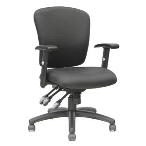 TygerClaw 19.69-in x 22-in Black Upholstered Office Chair