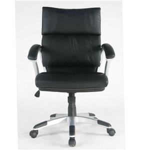 TygerClaw 20.65-in Black Faux Leather Office Chair