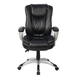 TygerClaw 20.08-in x 21.5-in Black Faux Leather Office Chair