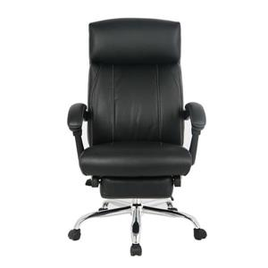TygerClaw 19.7-in x 20-in Black Faux Leather Office Chair